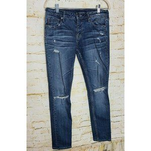 Vigoss Womens Jeans 30/27 Blue The Thompson Tomboy